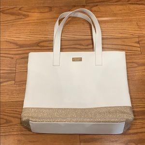 Jimmy Choo Parfums White Gold Glitter Bag Purse